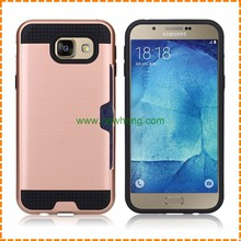 2 In 1 Hybrid TPU PC Brush Card Slot Case Cover for Samsung Galaxy S8