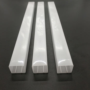 Wholesale factory offered customized square-shape light tube pc cover, led tube housing