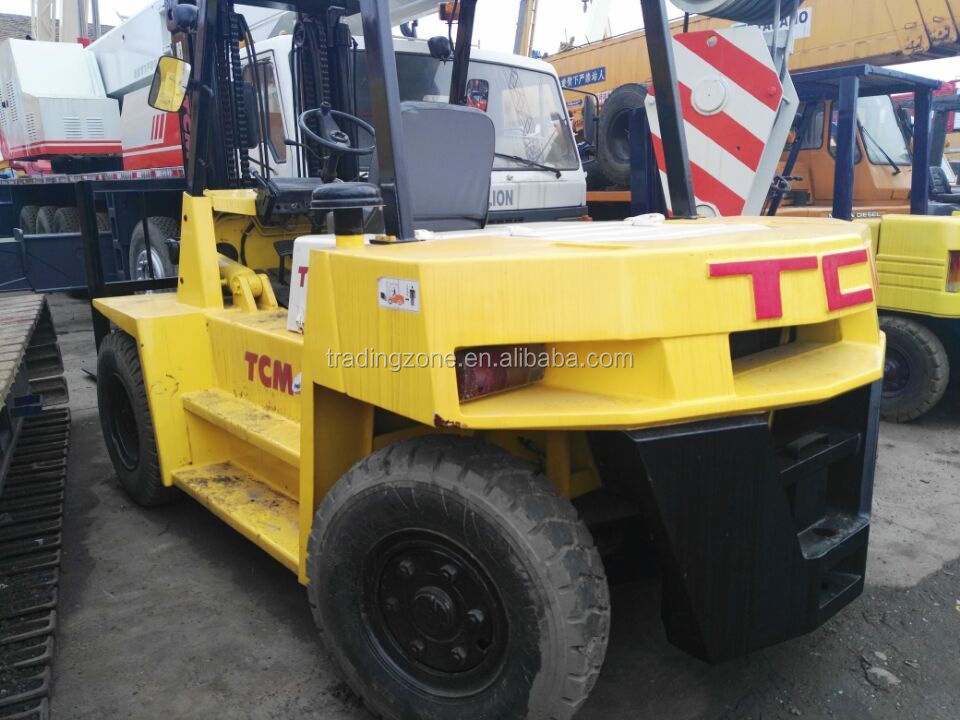 Used 10 ton TCM Forklift for sale , Japanese TCM 10 ton forklift , competitive price