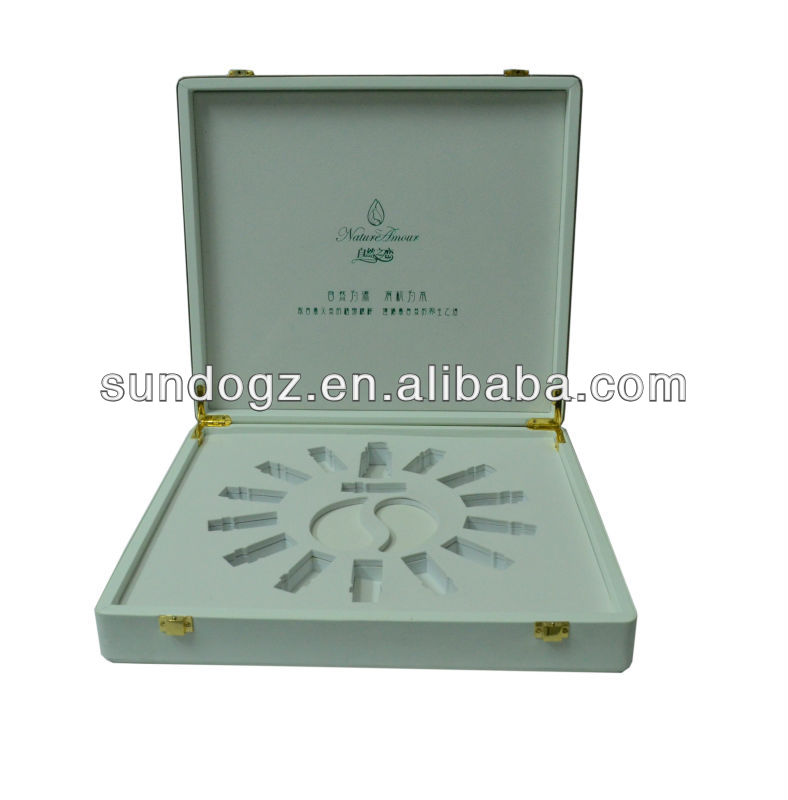 luxury leather cosmetics packaging case for oil