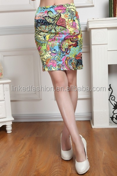 Custom Ladies Candy Color polyester women Short Mini Skirt
