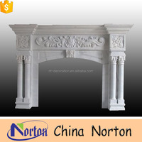 Home decorative hand carved antique marble fireplace mantel NTMF-F053L