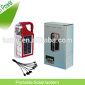 High power red and green color Solar LED lantern with ABS material