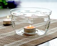 Wholesale High quality decorative glass candle holder clear glass tealight candle holder