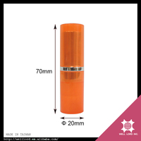 New fancy products shock orange color cute adorable mac lipstick tube