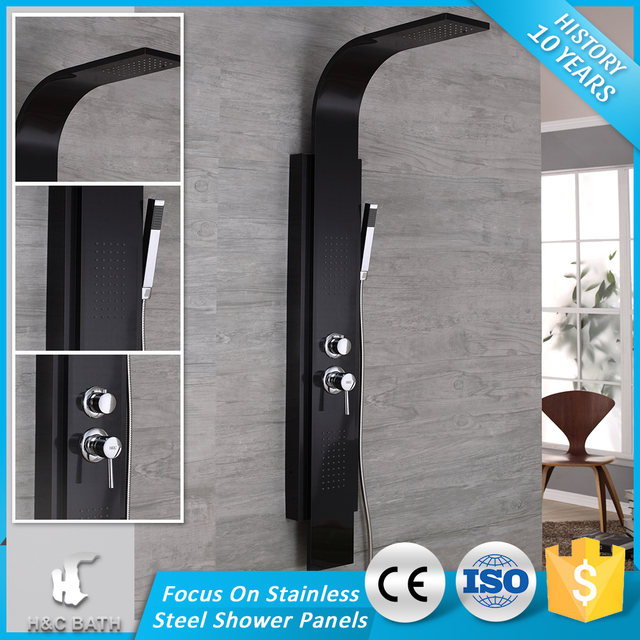 H&C High Quality China Professional Bathroom Fittings Name Manufacturer Bath Stainless Steel Shower Panel
