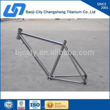 New design titanium alloy handbrushed titanium road bike frame with great price