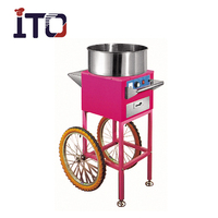 SH-EC/GC high quality candy floss machine cart with wheels