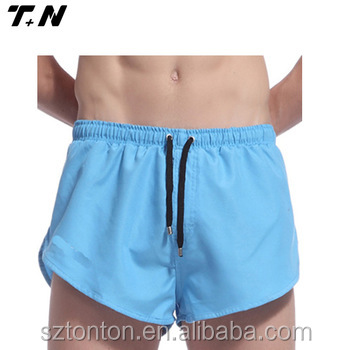 Polyester Fabric Men's Training Short Beach Shorts Running Shorts