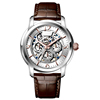 Vogue stainless steel automatic chronograph quartz mechanical skeleton watch