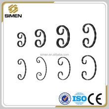 Decorative wrought iron railing parts,wrought iron c scroll manufacturer