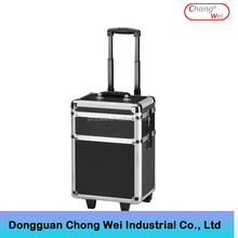 ABS Rolling Makeup Cosmetic Train Case aluminum trolley hard case