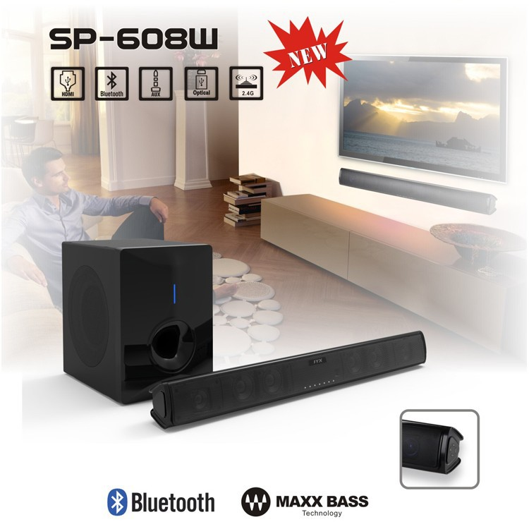 2.1 /5.1 High Quality Home Theater Sound Bar/Bluetooth Soundbar with external subwoofer box and HD Optical AUX
