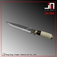 Fixed blade Combat Knife with White Ox Bone Handle