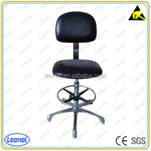 PVC PU Leather ESD Chair with Conductive Wheels
