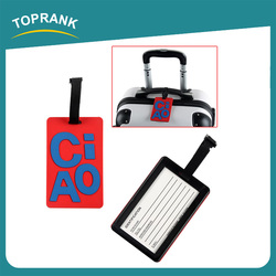 Toprank Promotional Personalised Cartoon 3D Letter Soft PVC Airline Travel Luggage Tag