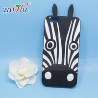 2016 wholesale price good quality silicone animal style mobile phone case for iphone