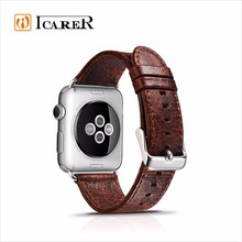 ICARER Real Leather Watchband for apple watch 38mm and 42mm strap.
