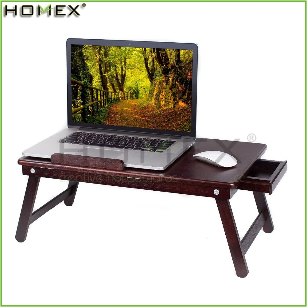 Multi-functional Laptop Desk Table With Drawer/Bed Computer Desk/ Laptop Desk Table Homex-BSCI Factory