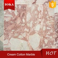 Pink Cream Cotton Marble With Factory Cheap Price