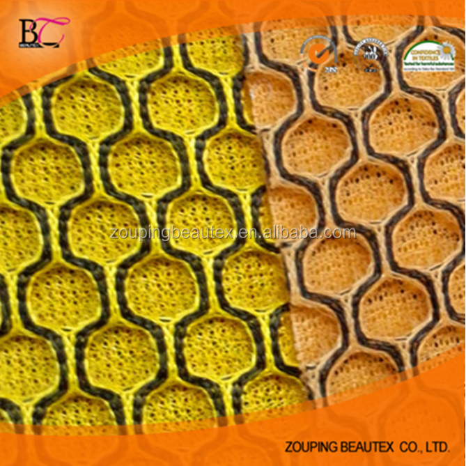 Factory directly selling 3 d big hole hexagonal hole mesh fabric