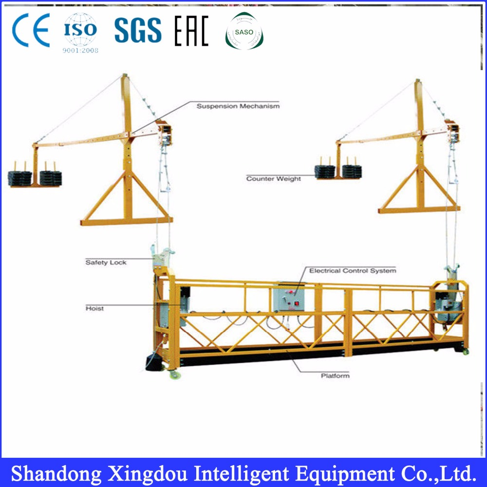 High Quality Hoist Lifting Construction Suspended Cradle with Suspended Working Platform