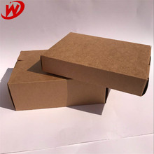 China Suppliers Custom Natural Creative Brown Kraft Paper Folding Packaging Box Without Glue Design
