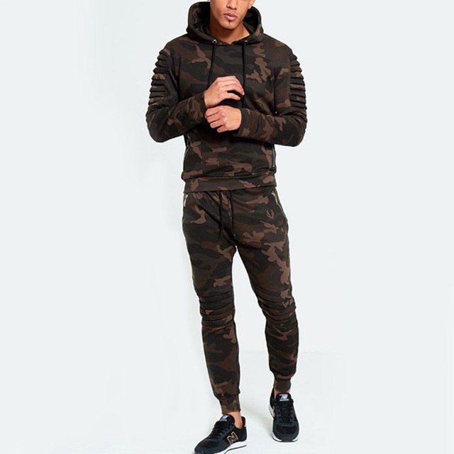 athletic training Men Jogging Sportswear camouflage clothing printed Tracksuit