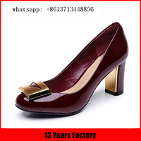 New design 5mm heel patent leather sexy office honey girl shoes hollow out heel nice perfect shoes