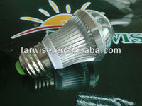 PC and Aluminum for 3W LED bulb light part with E27 end cap