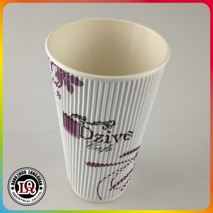 Disposable custom logo large Paper Cup