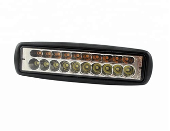 Dual Color 6.3 Inch Fog lights 4X4 white Amber Mini Work Led Bar Lights 60w