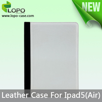 Hot selling blank sublimation leather case for iPad 5(Air)