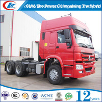 howo heavy duty 30t-70t terminal container tractor 375hp Cabin trailer head truck for flat bed container in Botswana
