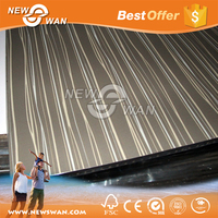 Wood Grain High Glossy MDF Board / Texture UV Coated MDF Sheet