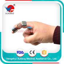 medical hand support sport trainer finger splint, aluminum and sprial spring splint for finger injury people