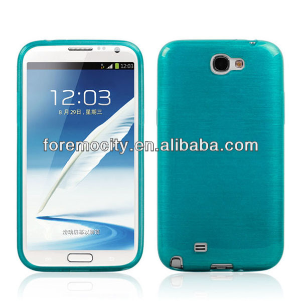 New for SAMSUNG Note2 N7100 tpu case with brush finish