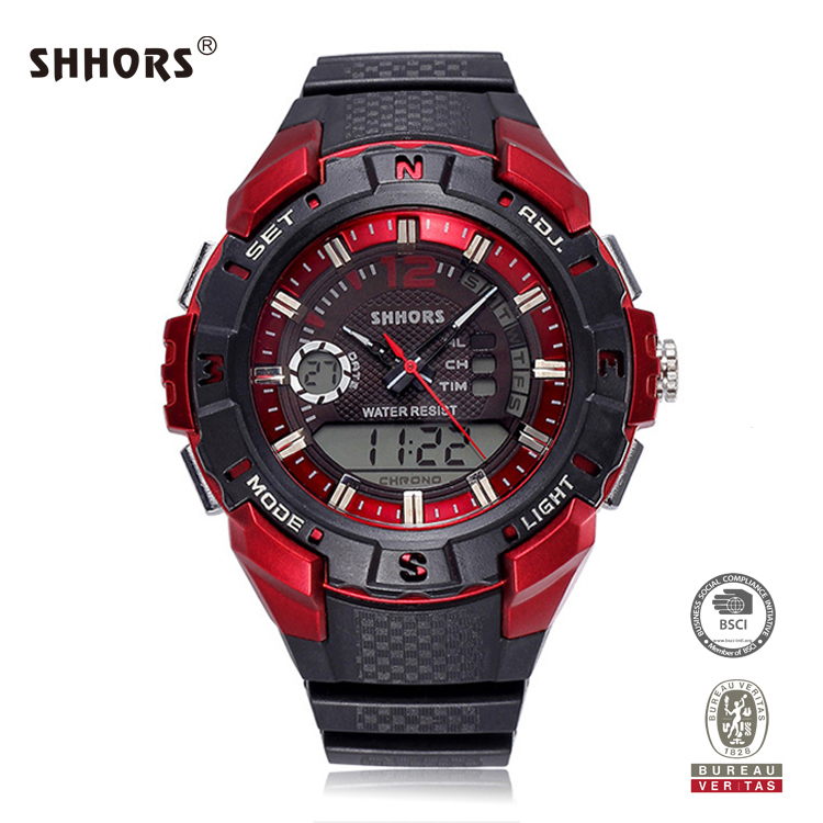 SHHORS 3atm Water Resist Alarm Men Factory Direct Fashion Minimalist Wrist Watch
