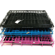 "24"" 30"" 36"" 42"" 48"" Wire Metal Folding Pet Dog Cage Crate Kennel W/doors w/ ABS Plastic Removable Tray"