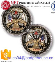 Professional Free Artwork Design Quality Guaranteed Custom U.S. Army Core Values Challenge Coin