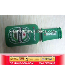 Green USB flash drive bottle,PVC USB drive bottle,Customized USBS drive