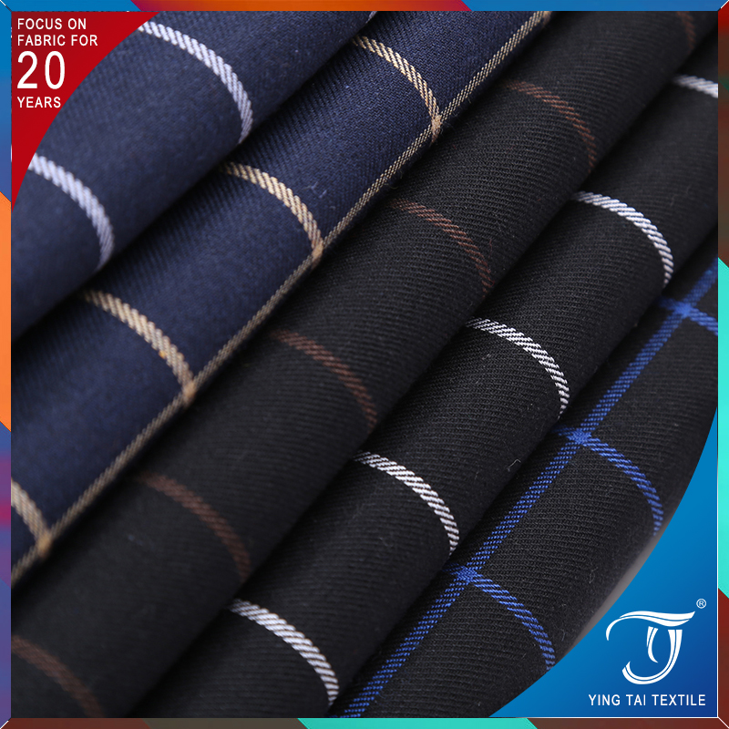 Direct manufacturers cotton check polo shirt fabric for men's shirt