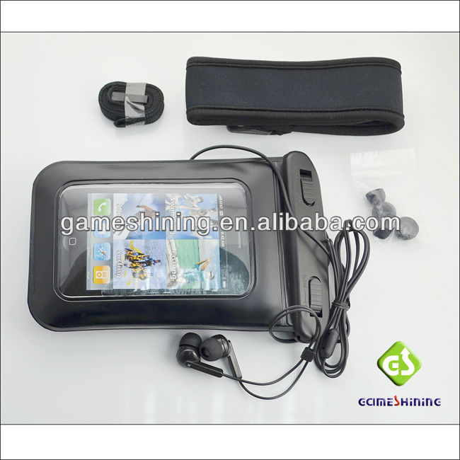 for iPhone Waterproof Bag with Earphone and Armband