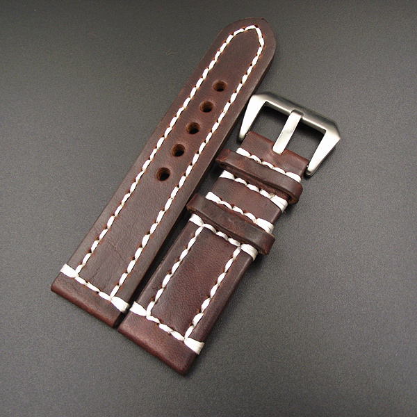 1PCS  High quality 18MM 20MM 22MM 24MM genuine leather handmade Watch band watch strap - GL091502