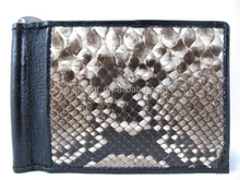 Mens Wallet with Money Clip 100% Python Snakeksin Leather