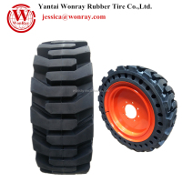 Pneumatic Equivalent solid rubber tires 10 x 16.5 12 x 16.5 for skid steer