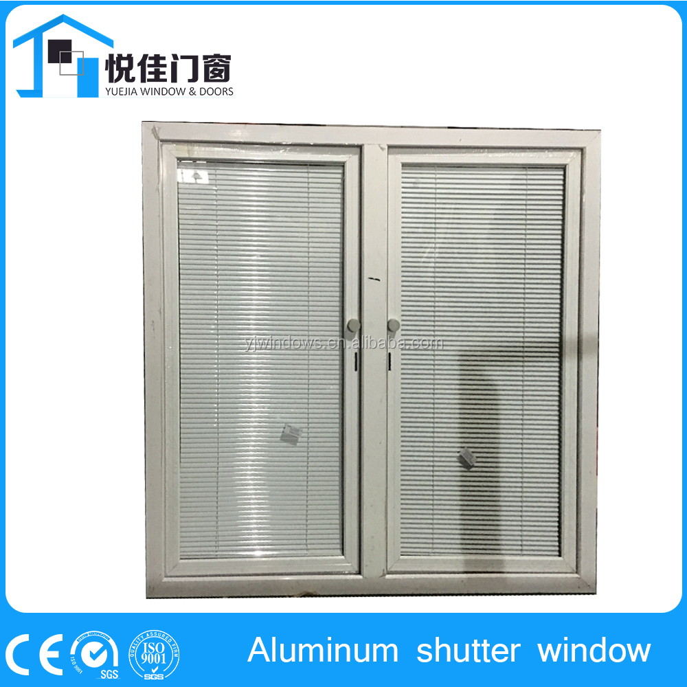 Adjustable sun louvers aluminum window