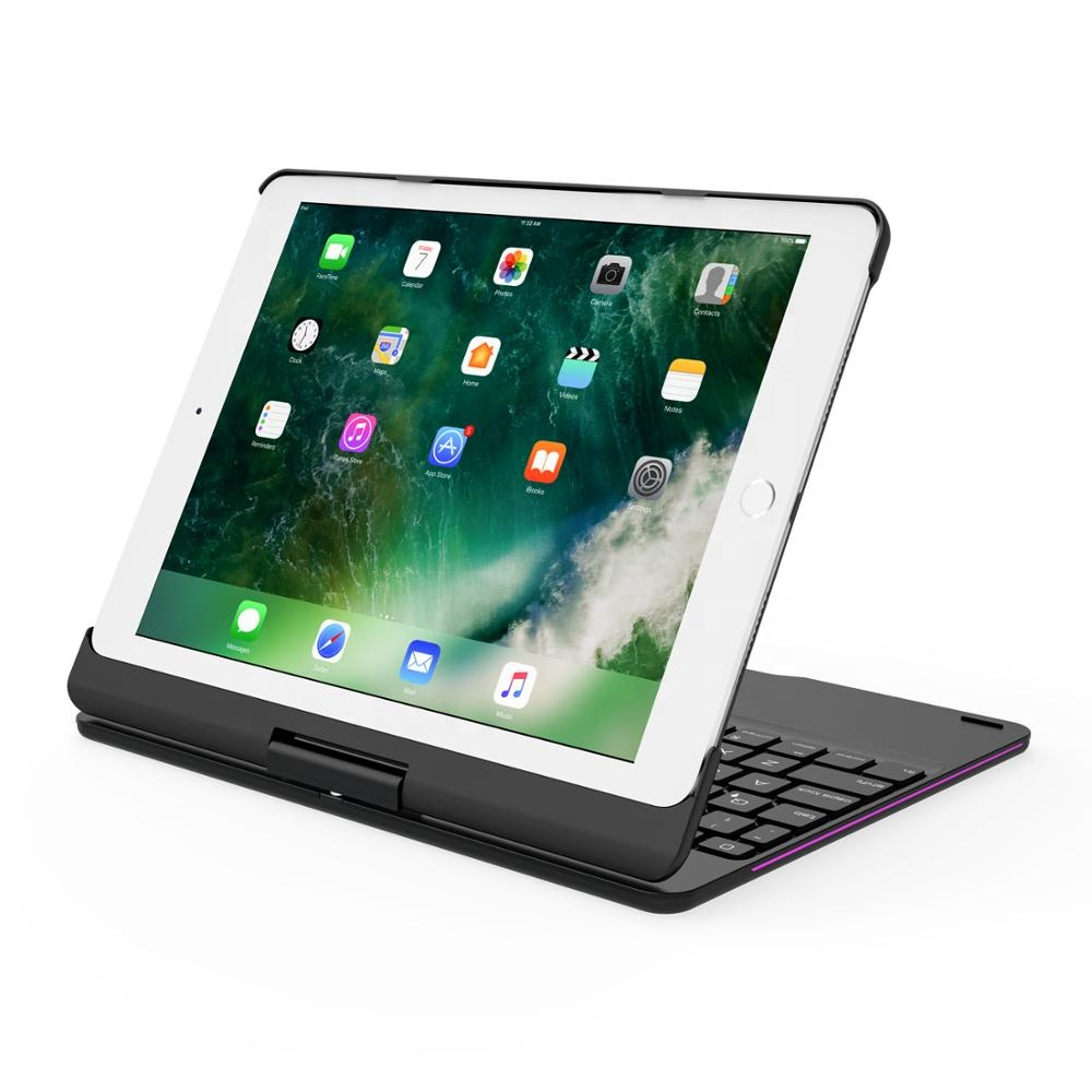 High standard high quality aluminum alloy clamshell bluetooth keyboard case for <strong>ipad</strong> 9.7