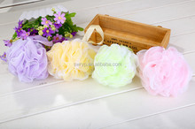 2015 the newest cheap price Mesh bath flower,40g Shower Bath Ball for promotion gift in variedcolour