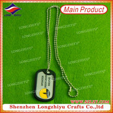 Custom Dog ID Tag Dog Tag, Engraver Blank Dog Tag, Army Dog Tags with Rubber Silicone Surround